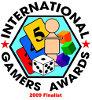 Nominiert für 2009 International Gamers Award