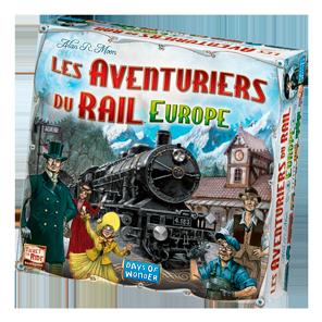 La boîte des Aventuriers du Rail Europe