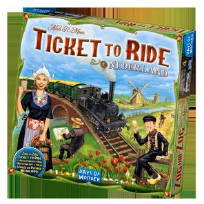 La boîte des Aventuriers du Rail Pays-Bas